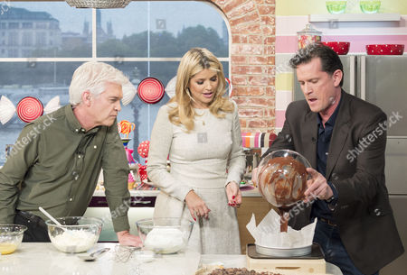 Phillip Schofield and Holly Willoughby with Willie Harcourt-Cooze
