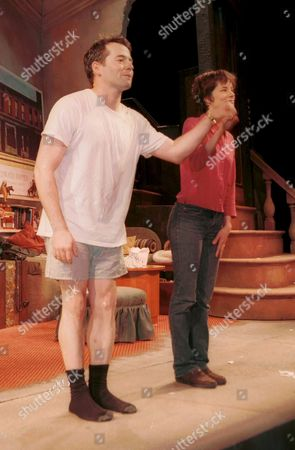 """Stock Picture of MATTHEW BRODERICK AND PARKER POSEY IN PLAY """"TALLER THAN A DWARF"""" AT THE LONGACRE THEATRE, NEW YORK AMERICA"""