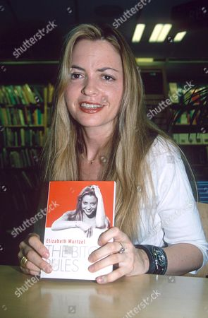 WRITER ELIZABETH WURTZEL WITH HER LATEST BOOK 'THE BITCH RULES'