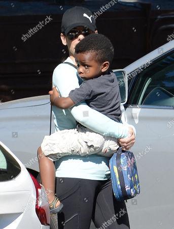 Sandra Bullock with son Louis Bardo Bullock