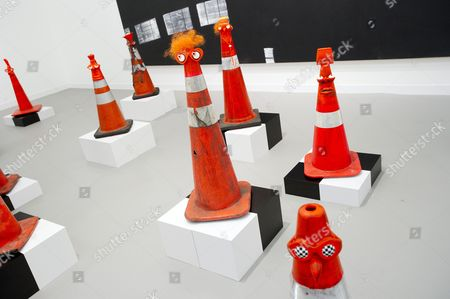 Safety Cones (After Richard Serra) by Rob Pruitt