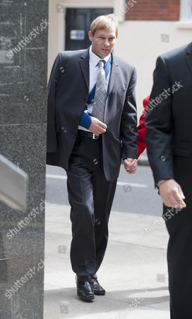 Pc Simon Harwood Arriving At Westminster Magistrates Court For Hearing; Accused Of Causing The Death Of Ian Tomlinson. Tomlinson Died After Being Struck By Harwood During The 2009 G-20 Summit Protests.