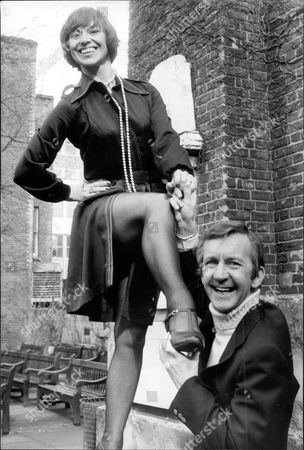 Actress Elizabeth Seal Is Pictured With Norman Vaughan Comedian And Television Presenter.