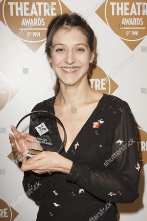 Blanche McIntyre accepts the award for Best Director for The Seagull