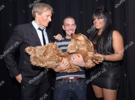 Michael Bolton, Jeremy Joseph (G-A-Y owner) and dog, and Lorna Simpson
