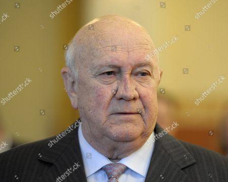 Former South African leader and Nobel Laureate F W de Klerk