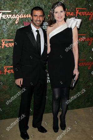 Geena Davis and Reza Jarrahy