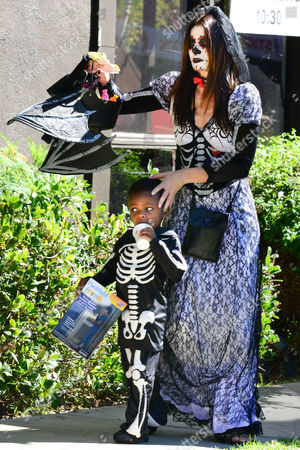 Sandra Bullock and son Louis Bardo Bullock in fancy dress