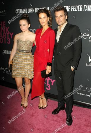Stock Picture of Lily Mo Sheen, Kate Beckinsale and Len Wiseman