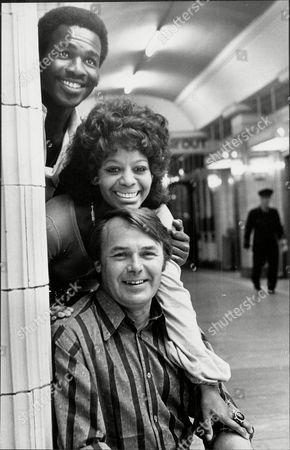 Stock Photo of The Cast Of The Television Programme 'love Thy Neighbour' Rudolph Walker Nina Baden Semper And Jack Smethurst In Blackpool.