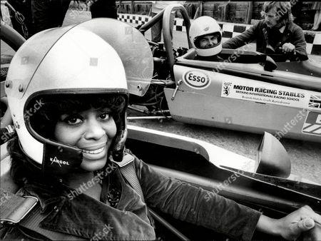 Editorial image of Nina Baden Semper Actress Racing Her 'love Thy Neighbour' Co Star Jack Smethurst.