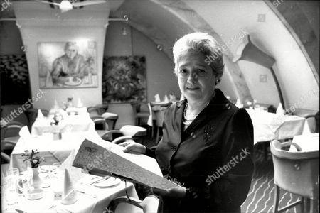 Elena Salvoni Manager Of L'escargot Restaurant.