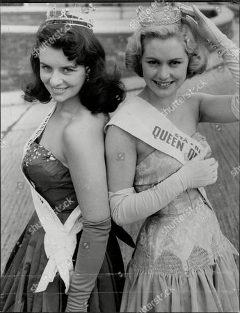 Beauty Queen And Fashion Model Mavis Bute Aka Gail Sheridan (left) With Stephanie Howell At Lap.