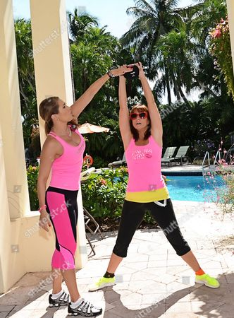 Editorial picture of Jill Zarin workout with celebrity fitness trainer Jennifer Nicole Lee at Woodfield Country Club Boca Raton, Florida, America - 14 Oct 2013