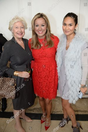 Stock Image of Caroline Neville (CEW UK President), Marigay McKee (Harrods Chief Merchant), Reena Hammer (Creative and Marketing Director), Urban Retreat