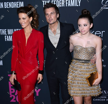 Kate Beckinsale and Len Wiseman with her daughter Lily Mo Sheen