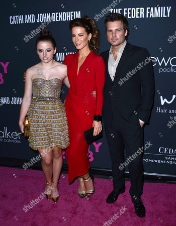 Lily Mo Sheen, Kate Beckinsale and Len Wiseman
