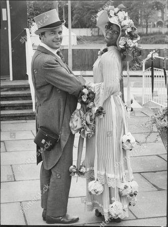 Actor Jack Smethurst And Actress Nina Baden Semper At Ascot Racecourse.
