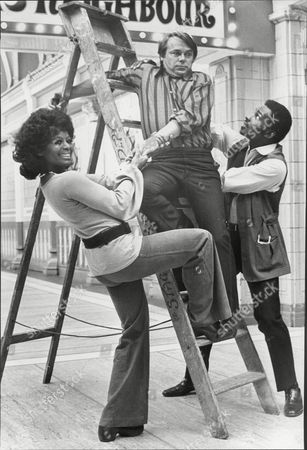 The Cast Of The Television Programme 'love Thy Neighbour' .nina Baden Semper Jack Smethurst And Rudolph Walker In Blackpool.