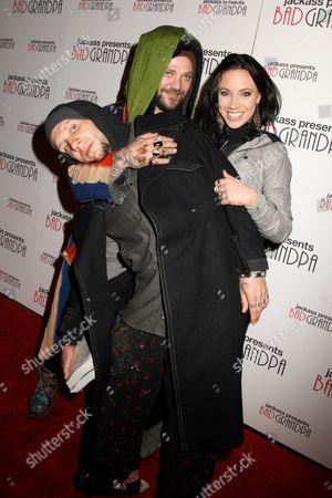 Novak, Bam Margera and Nicole Boyd