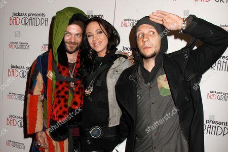 Bam Margera, Nicole Boyd and Novak