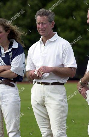 Prince Charles and Emma tomlinson at polo.
