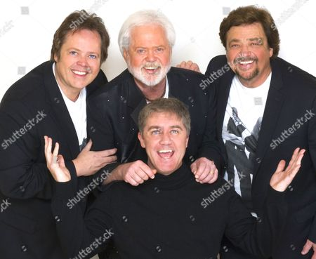 The Osmonds - Jimmy Osmond, Merrill Osmond and Jay Osmond with producer Jon Conway