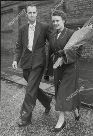 Roy Sheldon With Mrs Joyce Lee Who Will Be The Adopted Mother Of His New Baby Seen Visiting Sheila Winkley (now Sheila Sheldon) At The Hospital She Gave Her Baby Away Because She Could Not Afford To Keep It.