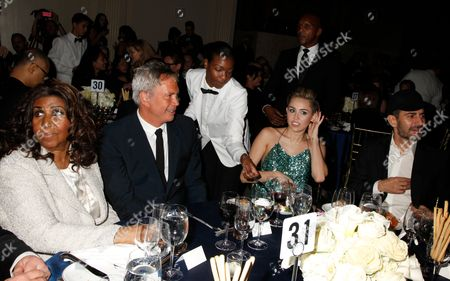 Aretha Franklin, Robert Duffy, Miley Cyrus and Marc Jacobs