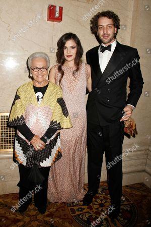 Rosita Missoni, Teresa Missoni and Francesco Missoni