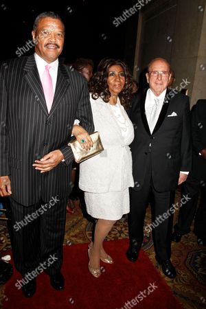Willie Wilkerson, Aretha Franklin and Clive Davis
