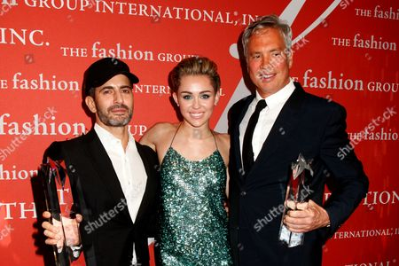 Marc Jacobs, Miley Cyrus and Robert Duffy