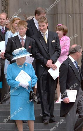 PRINCE WILLIAM, PRINCE HARRY, QUEEN ELIZABETH II AND PRINCE CHARLES