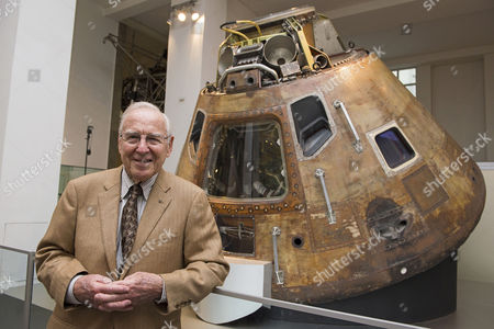 Jim Lovell, USN, with Apollo 10 Command Module
