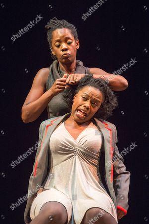 Stock Photo of Sheri-An Davis (Haircomb) & Rebecca Omogbehin (Bounty).