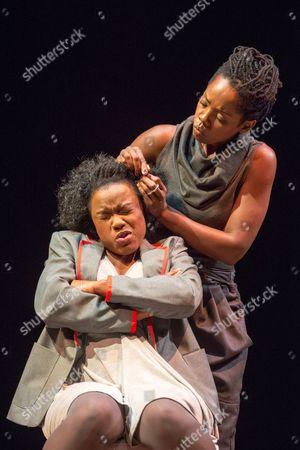 Stock Image of Sheri-An Davis (Haircomb) & Rebecca Omogbehin (Bounty)