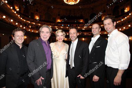 Andreas Gergen, Sir Andrew Lloyd Webber, Milica Jovanovic, Christian Struppeck, Drew Sarich and Julian Looman
