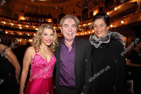 Stock Photo of Barbara Obermeier, Sir Andrew Lloyd Webber and Maya Hakvoort