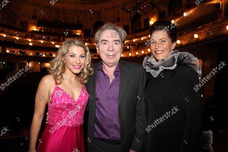 Stock Picture of Barbara Obermeier, Sir Andrew Lloyd Webber and Maya Hakvoort