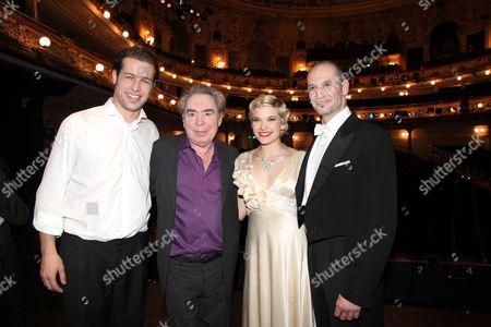 Julian Looman, Sir Andrew Lloyd Webber, Milica Jovanovic and Drew Sarich