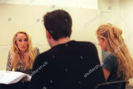 JERRY HALL, JOSH COHEN AND LUCY PUNCH
