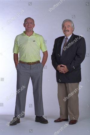 Tony Humphrys And John Mcbride Lookalike For Tv Presenters Des Lynham And Jim Bowen 1997.