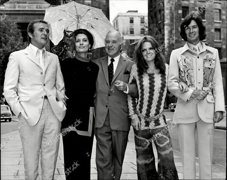 Tony Selby Unknown Donald Layne Smith Judy Love And Michael Mckenzie At A Photocall For The Television Programme 'ace Of Wands'.