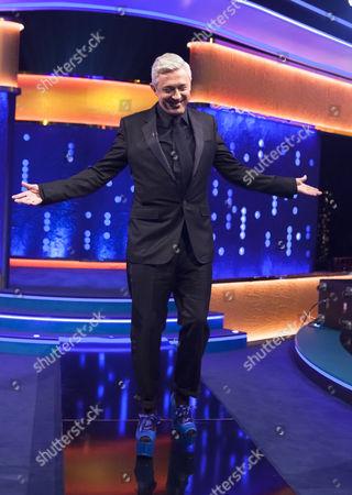 Louis Walsh wearing Vivienne Westwood 'Super Elevated Ghillie' platform shoes