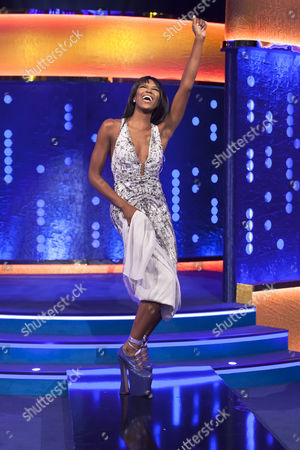 Naomi Campbell wearing the Vivienne Westwood 'Super Elevated Ghillie' platform shoes that she famously fell over in