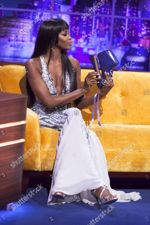 Naomi Campbell with the Vivienne Westwood 'Super Elevated Ghillie' platform shoes that she famously fell over in
