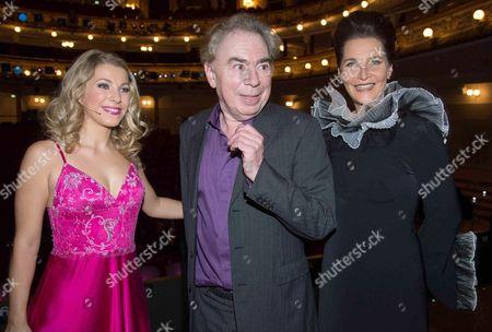 Stock Image of Barbara Obermeier, Sir Andrew Lloyd Webber and Maya Hakvoort