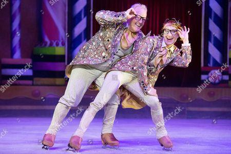 Stock Photo of Keith Chegwin and Olga Sharutenko