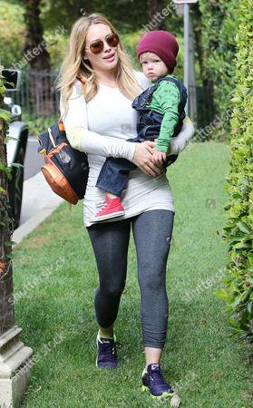 Stock Image of Hilary Duff and Luca Cruz Comrie