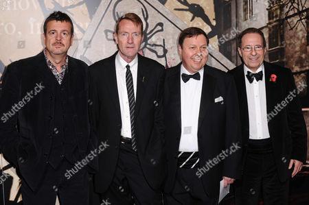 Mark Billingham, Lee Child, guest and Peter James